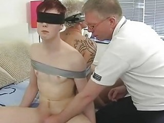 older gay dad ties randy twinks and suck their