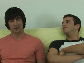 cute college gay boys having passionate sex on